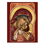 Korsun Mother of God Prayer Card Postcard