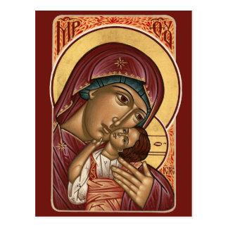 Korsun Mother of God Prayer Card Post Card