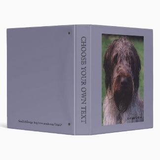 Korthals Griffon - Tsjip portrait Vinyl Binders