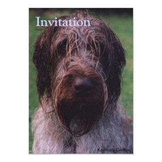 Korthals Griffon - Tsjip portrait Card