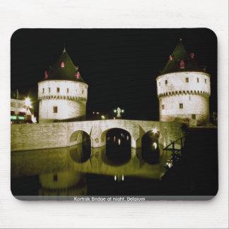 Kortrijk Bridge at night Belgium Mouse Pad