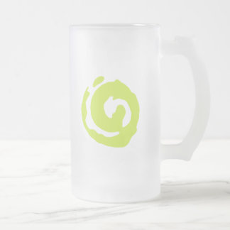 Koru A Traditional Symbol Frosted Glass Beer Mug