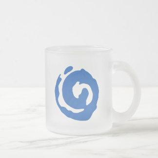 Koru A Traditional Symbol Frosted Glass Coffee Mug