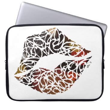 Beach Themed Koru kiss computer sleeve