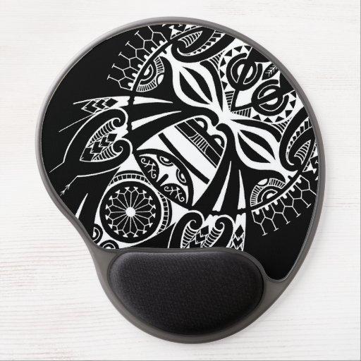 koru negro negativo del tatau del diseño de la mas alfombrilla con gel
