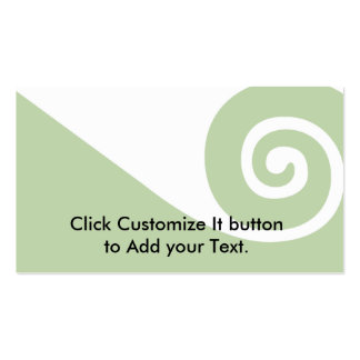 Koru, New Zealand Double-Sided Standard Business Cards (Pack Of 100)