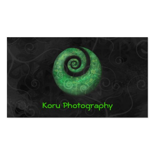 Koru Photography Double-Sided Standard Business Cards (Pack Of 100)