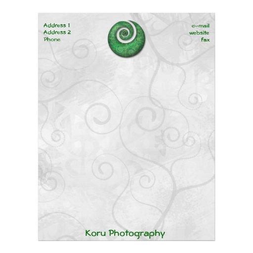 Koru Photography Personalized Letterhead