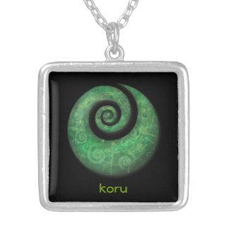 koru silver plated necklace