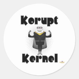 Korupt Kernel Popcorn Supervillain Classic Round Sticker