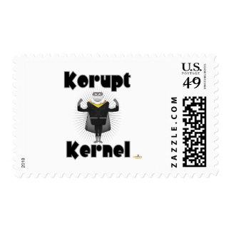 Korupt Kernel Popcorn Supervillain Postage Stamp