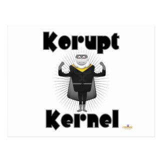 Korupt Kernel Popcorn Supervillain Postcard