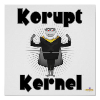 Korupt Kernel Popcorn Supervillain Posters
