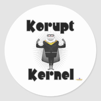 Korupt Kernel Popcorn Supervillain Round Stickers