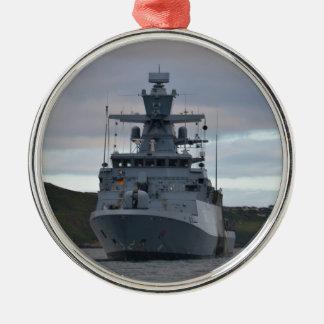Korvette Braunschweig Anchored in Plymouth Metal Ornament