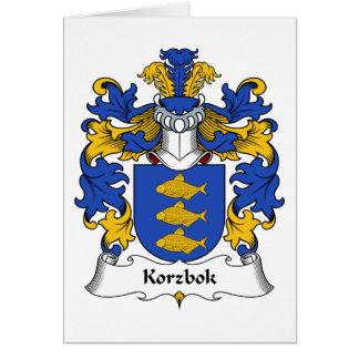 Korzbok Family Crest Greeting Card