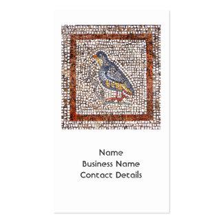 Kos Bird Mosaic Business Card with 2013 Calendar