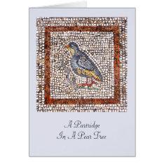 Kos Bird Mosaic Christmas Greeting Card at Zazzle