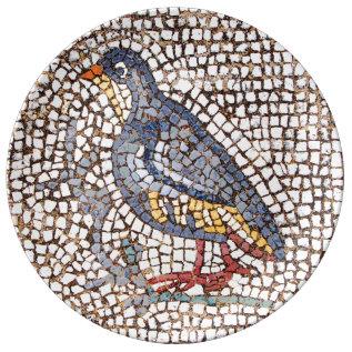 Kos Bird Mosaic Dinner Plate at Zazzle