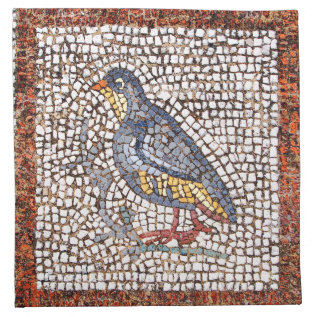 Kos Bird Mosaic Set Of 4 Napkins at Zazzle