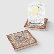 Kos Bird Mosaic Stone Coaster in Sandstone at Zazzle