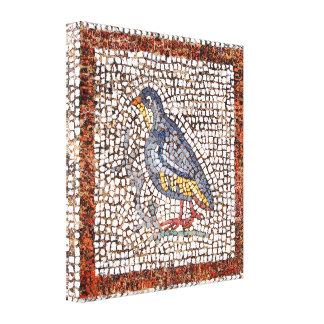 Kos Bird Mosaic Wrapped Canvas 1.5 inch Frame