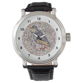Kos Bird Mosaic Wristwatch at Zazzle
