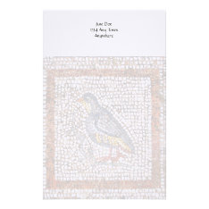 Kos Bird Mosaic Writing Stationery at Zazzle