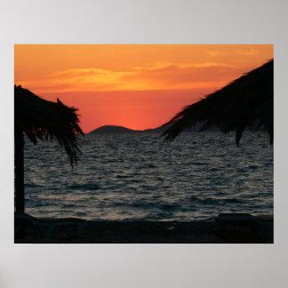 KOs Island Greece Mastichari Beach Sunset Poster