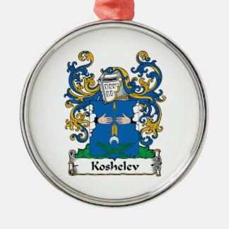 Koshelev Family Crest Round Metal Christmas Ornament