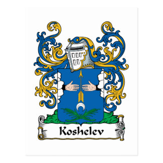 Koshelev Family Crest Postcard