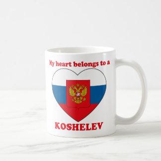 Koshelev Classic White Coffee Mug