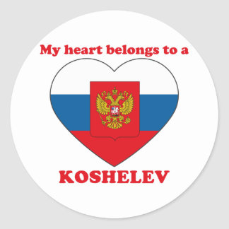 Koshelev Classic Round Sticker