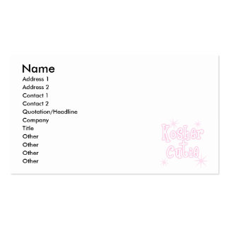 kosher cutie pink business card