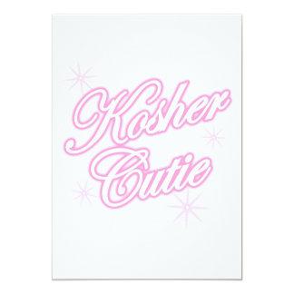kosher cutie  pink card
