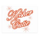kosher cutie red postcard