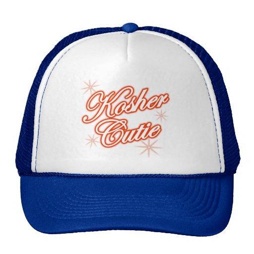 kosher cutie red trucker hat
