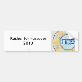 Kosher for Passover Sticker Car Bumper Sticker