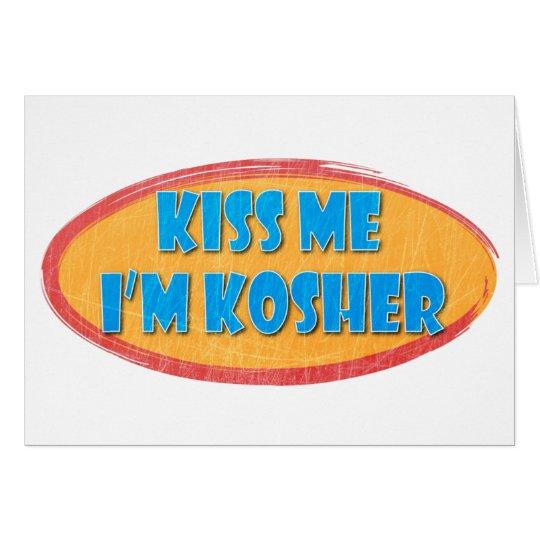 Kosher Humor Retro Design Card