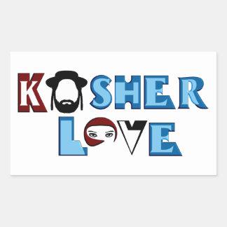 Kosher Love Rectangular Sticker