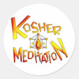 Kosher Meditation Classic Round Sticker