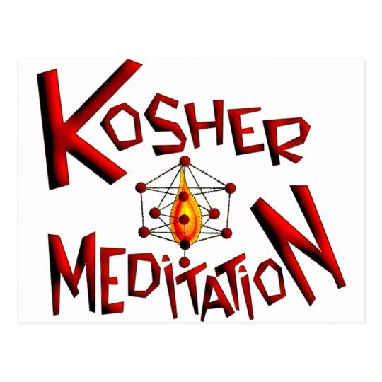 Kosher Meditation Postcard