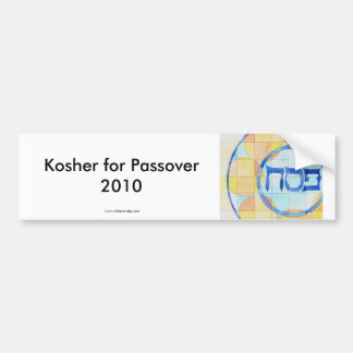 Kosher para el pegatina del Passover Etiqueta De Parachoque