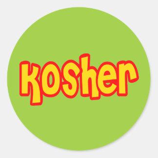 Kosher Pegatina Redonda
