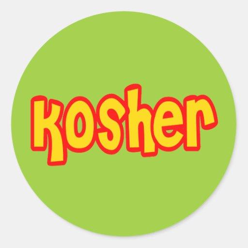 Kosher Pegatinas Redondas
