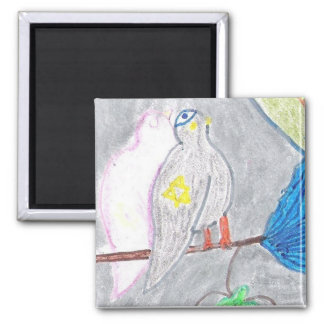 Kosher Pigeons 2 Inch Square Magnet