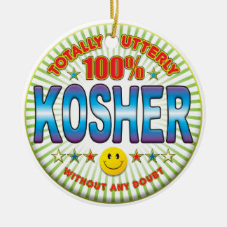 Kosher Totally Ceramic Ornament