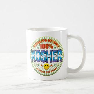Kosher totalmente taza básica blanca