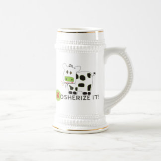 Kosherize it Cow Beer Stein