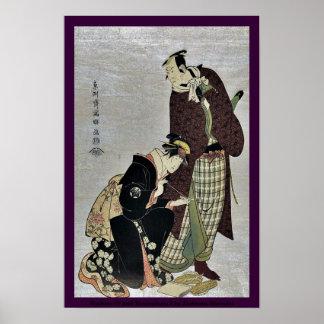 Koshiro IV and Tomisaburo I by Toshusai Sharaku Posters